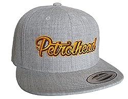Petrolhead: Petrolhead - Cap für alle Tuning-, Drift-, und Motorsport Fans - Classic Snapback von Flexfit, Grau Meliert, Einheitsgröße
