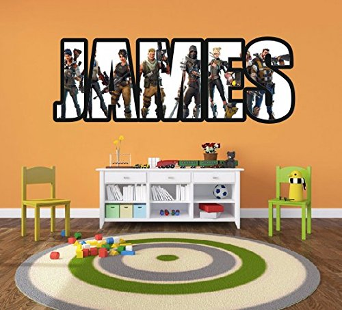 Fortnite Personalised Wall Decal Sticker Art for Bedroom Gamer