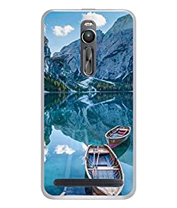 PrintVisa Designer Back Case Cover for Asus Zenfone 2 (awesome stunning look sea boats)