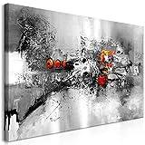 decomonkey Bilder Abstrakt 120x60 cm 1 Teilig Leinwandbilder Bild auf Leinwand Wandbild Kunstdruck Wanddeko Wand Wohnzimmer Wanddekoration Deko Modern schwarz weiß
