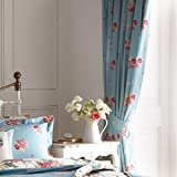 Dreams 'n' Drapes Bettwaren, mit Blumenmuster im Vintage-Stil, Patchwork-Wende-Design, 66x72 Lined Curtains