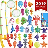 ECLifeHack Magnetic Fishing Toys Game Set for Kids for Bath Time Pool Party