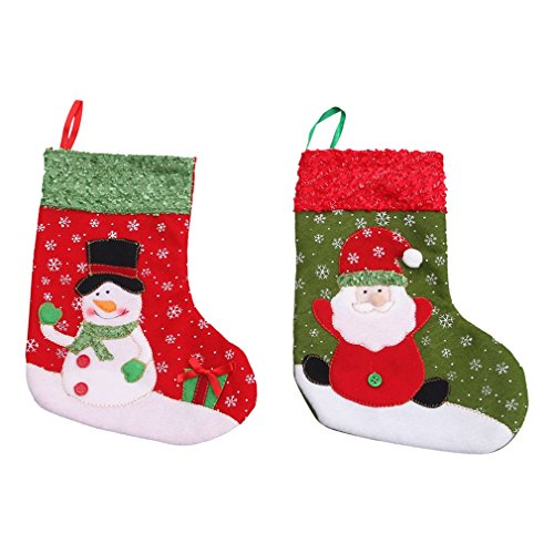 La vogue Calcetines Colgantes de Árbol de Navidad Decoración-Paquete de 6