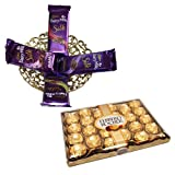 Dairy Milk Silk Basket Hamper With 24 Pcs Ferrero Rocher