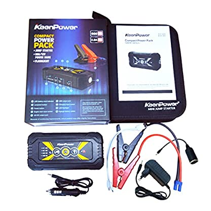 51 0h4bEK2L. SS416  - Keenpower Car Jump Starter 12V Car-Stlying Dispositivo de inicio Cargador Car Battery Booster Buster