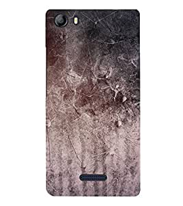 Fiobs Designer Phone Back Case Cover Micromax Canvas 5 E481 ( Oil Paint Grey Wall )