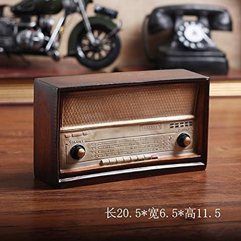 BEEST-Die alten Retro Vintage Radio Modell Dekoration kreative Cafe Tee Shop zimmer Bücherregal Tischdekoration, D