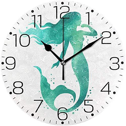 ALLdelete# Wall Clock Orologio Decorativo da parete a Sirena Dipinto a Mano Orologio Decorativo Senza...