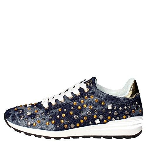 Laura Biagiotti 896 Sneakers Donna Tessuto BLU BLU 39