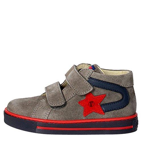 Falcotto ALF VELCRO VELOUR Sneakers Bambino Nabuk Grigio Grigio 24