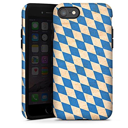 Apple iPhone SE Hülle Tough Case Schutzhülle bayern Flagge bavaria Tough Case glänzend
