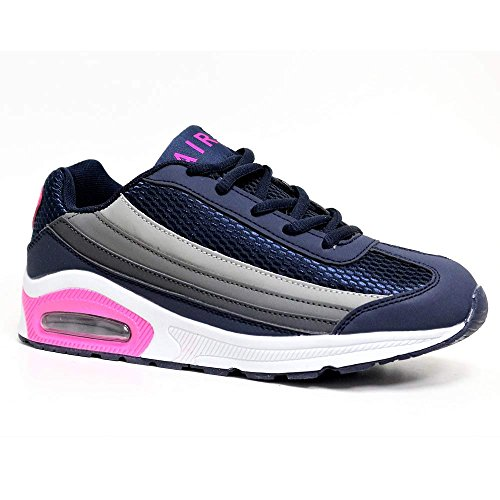 Air Tech, Damen Sneaker Navy / Grey