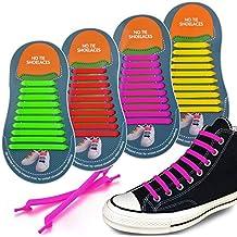 4 paia Lacci per scarpe lacci delle laccio da scarpe facili durevole il  silicone elastici nessun de1449294d7