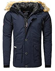 Geographical Norway Boeing – Parka para hombre, Hombre, Boeing, azul marino, L (talla del fabricante: L)