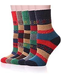 KOOYOL 5 Pares de Calcetines Para Mujer-Ideales para invierno