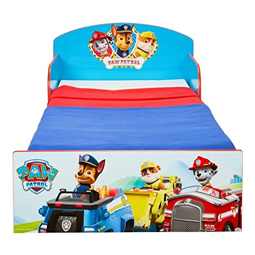 Paw Patrol Bett 140 x 70 cm Kinderbett Jungen Kindermöbel Möbel PawPatrol 505PWP