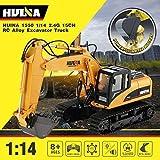 HUINA 1550 1:14 2,4G 15CH Escavatore RC - Potente Benna in Alluminio SOLLEVABILE