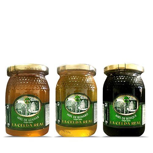 La Celda Real - 1,5 kg Miel Natural - Pack 3 sabores:...