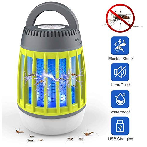 3-licht-indoor-laterne (3-in-1 Outdoor Camping Laterne Zelt Licht Elektronische Moskito-Mörder LED Bug Zapper Lampe Indoor Buzz Kill Falle InhaledKiller Fly USB Charger Killer,Green)