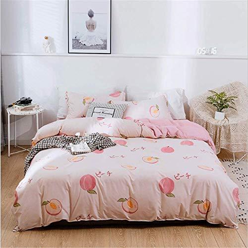SHJIA Einfache Bettbezug Cartoon Quilts Cover Twin Voll Königin King Size Mode Jungen Und Mädchen Bettwäsche D 150x200cm (Twin Bettwäsche Mädchen)
