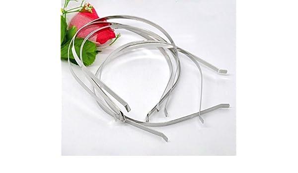-  38 x 0,6 cm Haarschmuck Stirnband Sadingo Metall Haarreif silber 1 Stk