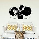 nkfrjz Vinyl Aufkleber Sport Gewichtheben Bodybuilding Dekoration wandaufkleber kinderzimmer 57x36cm