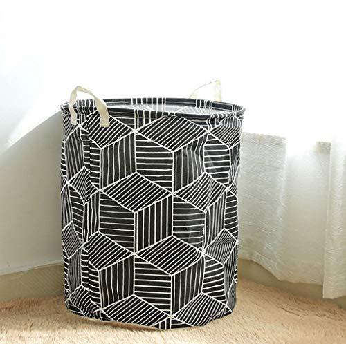 LonVe Nordic Simple Wäsche-Korbspeicher, Container-Faltschachtel große Fabrik für Bekleidung Korb Bra Necktie Toy,40 * 50cm,Black -