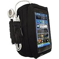 iGadgitz U2586 Brazalete caso Negro funda para teléfono móvil - Fundas para teléfonos móviles (Brazalete caso, Nokia, Lumia 925, Negro)