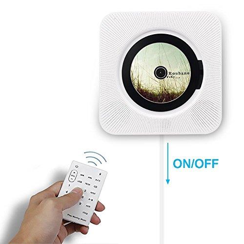 Portable CD-Player, Alice Dreams an der Wand montierbare drahtlose CD-Musik-Player Bluetooth-Lautsprecher MP3-Player mit Fernbedienung und MP3 3.5MM Kopfhörer Audio-Buchse AUX-Eingang / Ausgang