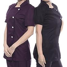 CLE DE TOUS-Ropa Uniforme para Centro de Estética Peluquería y SPA para Mujer Manga