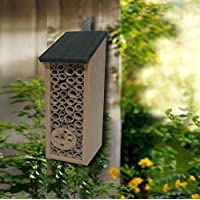 Wooden Outdoor Insect Bug Wasp Garden Hanging Hotel Home Bees Nest Box House
