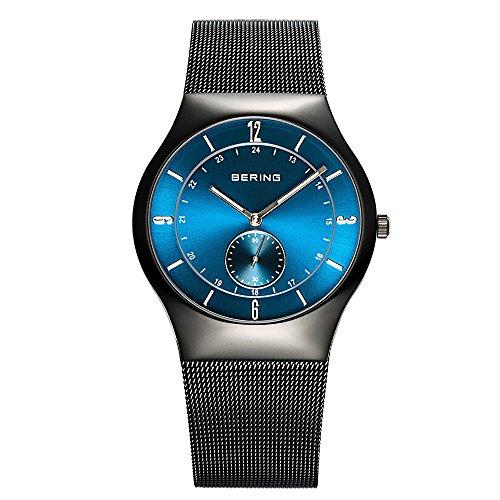 Bering Time Herren-Armbanduhr XL Classic Analog Quarz Edelstahl 11940-227