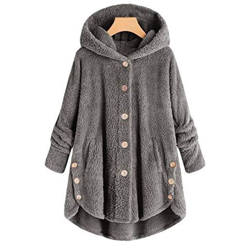 Característica de :  ¡La tela es suave y la chaqueta de piel sintética está muy de moda! Abrigo de piel sintética esponjoso y peludo, lujoso y elegante. Perfecto para el uso diario.  Características: manga larga, capucha, dobladillo irregular, cierr...