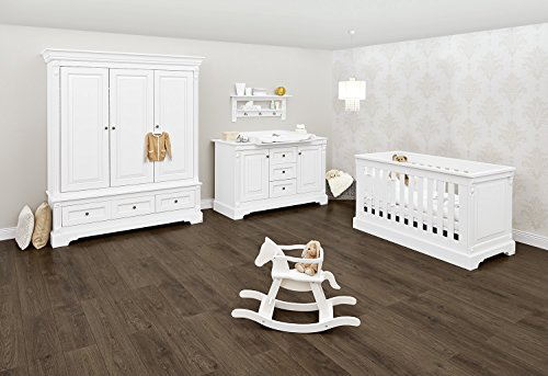 Pinolino 103467XG Kinderzimmer 'Emilia' extrabreit groß, weiß - Home Eleganz Lattenrost