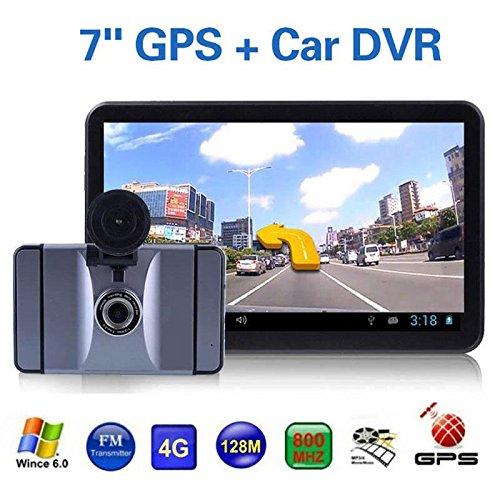 Leaftree - Navegación GPS para automóvil, 7 Pulgadas HD 1080P Pantalla táctil DVR Grabadora de conducción Mapas de por Vida incorporados, WiFi, Sensor de Gravedad