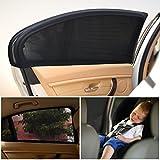 Uarter Parasol para ventana lateral de coche - Bloque de rayos UV Proteja a sus niños y mascotas-Pack de 2