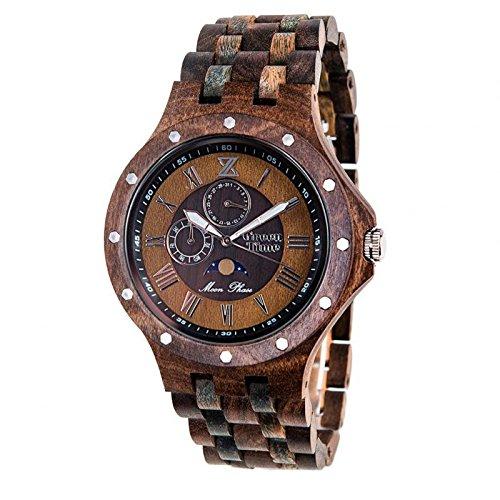 Uhr Greentime Unisex zw026F Quarz (Batterie) Holz Quandrante braun Armband Holz