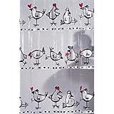 Ridder 343900-350 - Cortina de ducha (180 x 200 cm, anillas incluidas), color gris