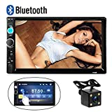 Cam Stereo Bluetooth 2 DIN Car Stereo 7010B 17,8 Centimetri HD Touch Audio Stereo Radio SupportoUSB/TF/AUX Ingresso Android Phone Mirror Link Autoradio FM Multimedia MP5 Player + Backup Camera