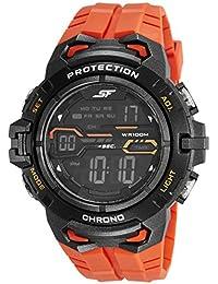 Sonata Fibre (SF) Digital Grey Dial Men's Watch-77076PP02