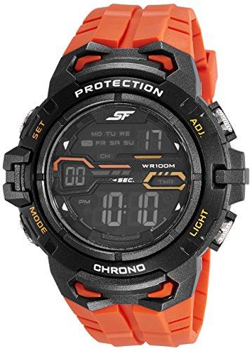 Sonata Digital Grey Dial Men's Watch-77076PP02