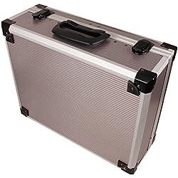 iWork L-80-004 - Maleta de aluminio para herramientas (39 x 32.6 x 14.6 cm) color plata