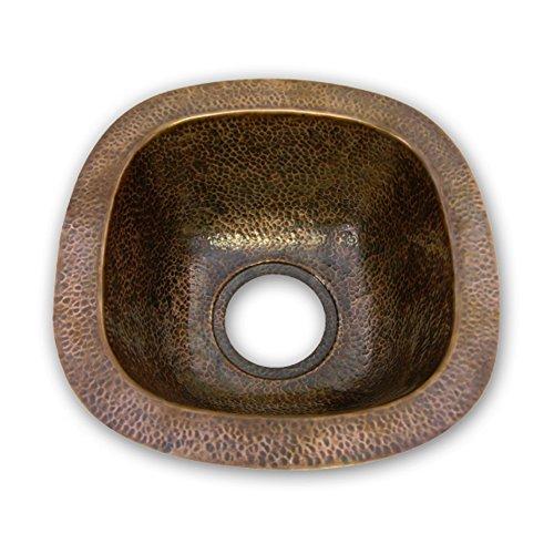 Houzer HW-SCH1BF Hammerwerks Series Undermount Copper Single Bowl Bar/Prep Sink, Antique Copper by HOUZER - Hammerwerks-serie