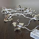 Gift Company Lichterkette LED batteriebetrieben, Ausstechförmchen, silber, L ca. 1,6 m | GC-11581 | 4030195693264