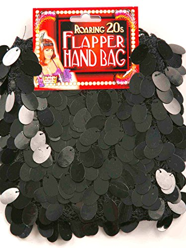 Forum Novelties Pailetten Flapper Kostüm Handtasche schwarz (Schuhe Für Ein Flapper Kostüm)