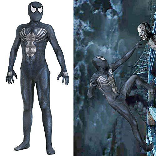 splay Siamesische Strumpfhose Halloween Charakter Performance Kostüm Avengers Anzug (Kopfbedeckung Kann Getrennt Werden),Black-XXXL ()