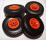 Reemplazo rueda neumática para carretilla, mano c'art etc, 260 x 85 x 20 mm - 4 unidades