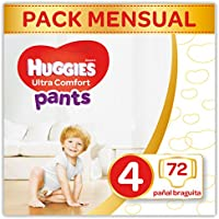 Huggies Ultra Comfort - Pañal Braguita Talla 4 (9-14 kg) - 72 Pañales braguita