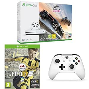 Pack Console Xbox One S 500 Go + Forza Horizon 3 + Fifa 17 + Manette Xbox Sans Fil