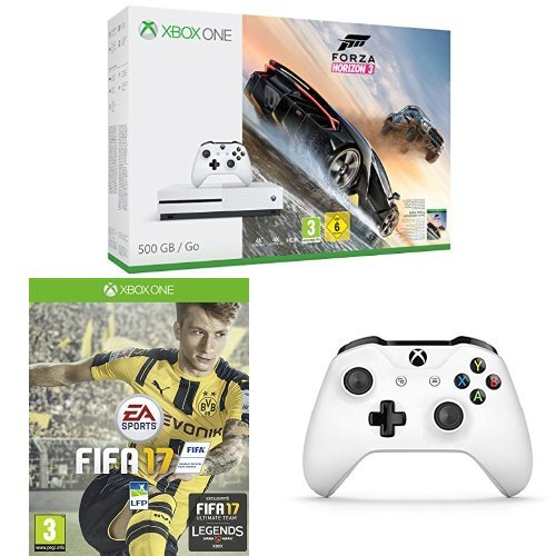 Pack Console Xbox One S 500 Go + Forza Horizon 3 + Fifa 17 + Manette Xbox Sans Fil